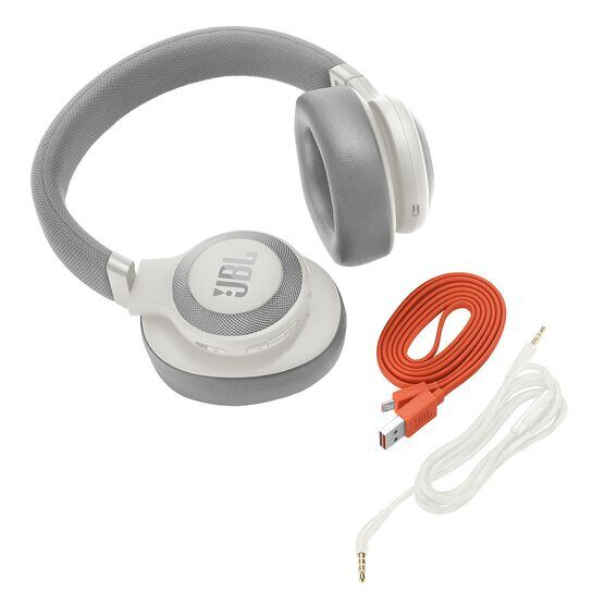 JBL E65BTNC - White - Wireless over-ear noise-cancelling headphones - Detailshot 3