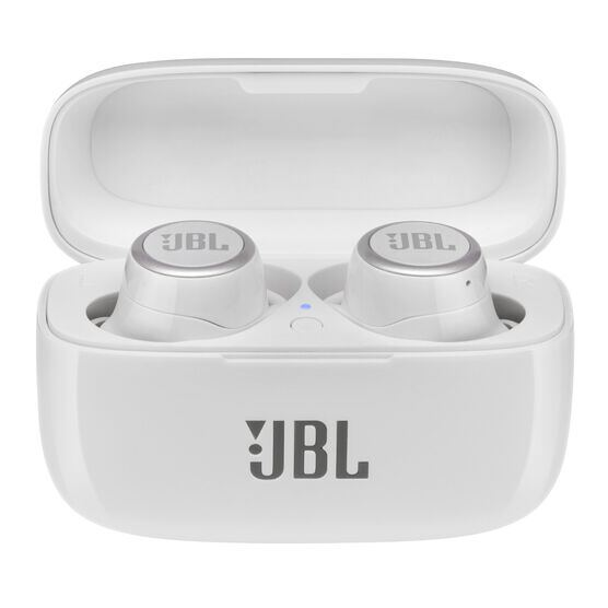 JBL LIVE 300TWS - White Gloss - True wireless in-ear headphones with Smart Ambient - Hero