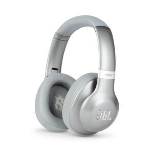 JBL EVEREST™ 710 - Silver - Wireless Over-ear headphones - Hero