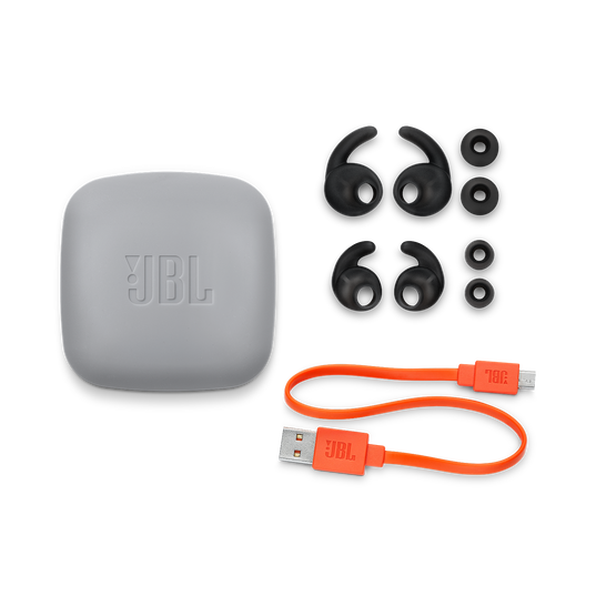 JBL REFLECT MINI 2 - Black - Lightweight Wireless Sport Headphones - Detailshot 5