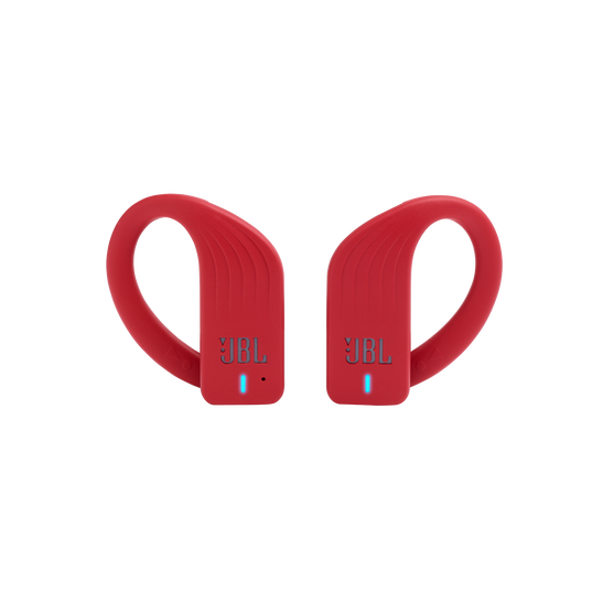 JBL Endurance PEAK - Red - Waterproof True Wireless In-Ear Sport Headphones - Front