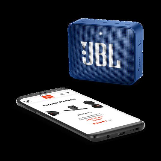 JBL GO 2 - Deep Sea Blue - Portable Bluetooth speaker - Detailshot 3