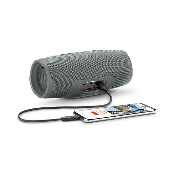 JBL Charge 4 - Grey - Portable Bluetooth speaker - Detailshot 4