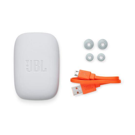 JBL Endurance JUMP - Red - Waterproof Wireless Sport In-Ear Headphones - Detailshot 4