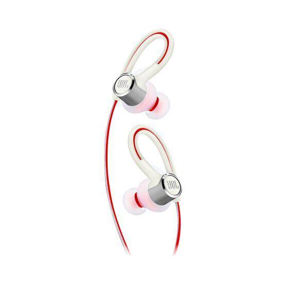 JBL Reflect Contour 2 - White - Secure fit Wireless Sport Headphones - Detailshot 1