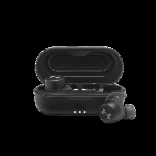 UA True Wireless Streak - Black - Ultra-compact In-Ear Sport Headphones - Hero