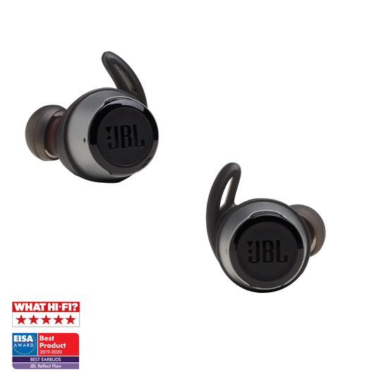 JBL Reflect Flow - Black - Waterproof true wireless sport earbuds - Detailshot 3