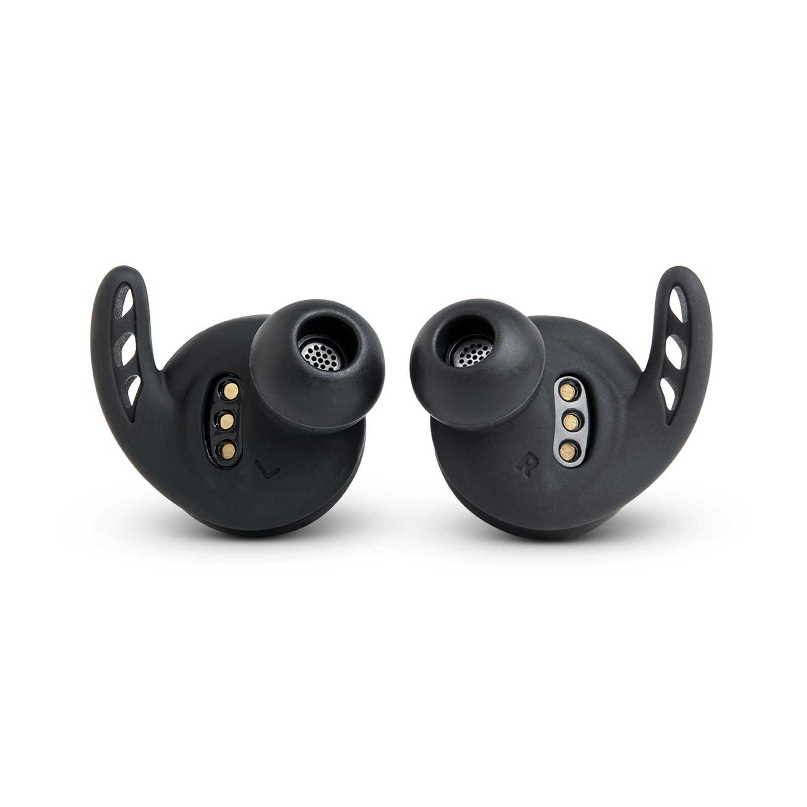 Under Armour® True Wireless Flash – Engineered by JBL® - Black - Truely wireless sport headphones for your every run, with JBL technology and sound. - Back