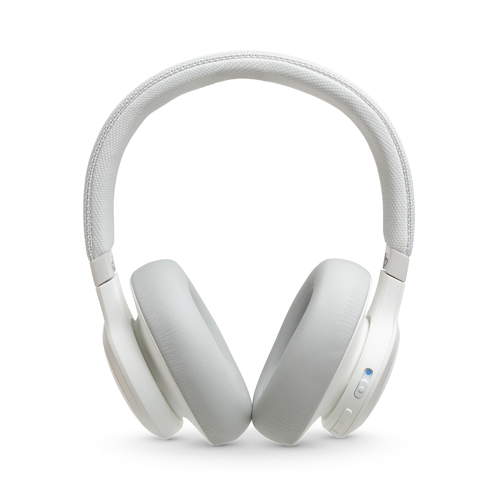 JBL LIVE 650BTNC - White - Wireless Over-Ear Noise-Cancelling Headphones - Front