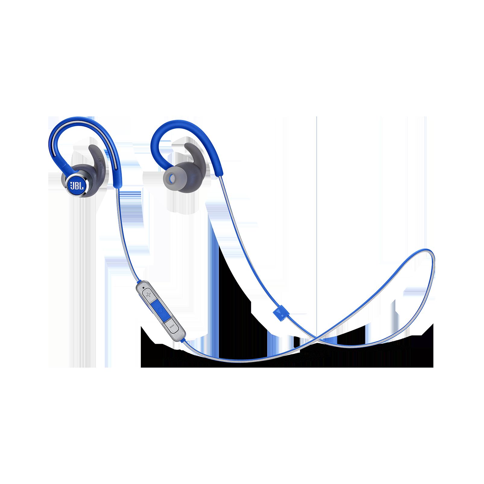 JBL Reflect Contour 2 - Blue - Secure fit Wireless Sport Headphones - Hero