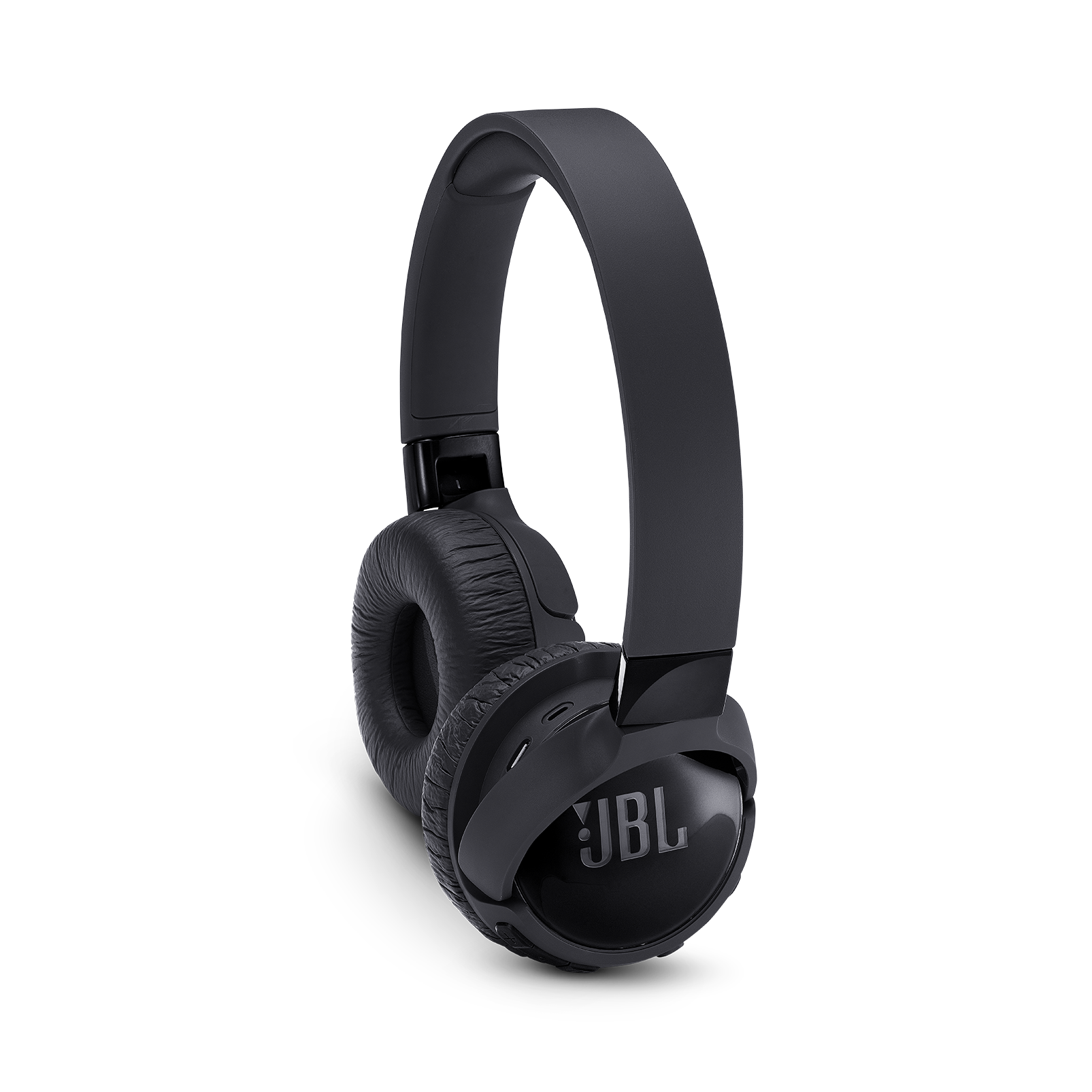 JBL TUNE 600BTNC - Black - Wireless, on-ear, active noise-cancelling headphones. - Detailshot 1