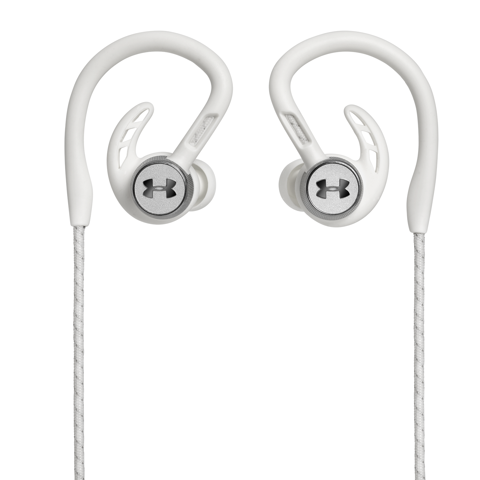 UA Sport Wireless PIVOT - White - Secure-fitting wireless sport earphones with JBL technology and sound - Back