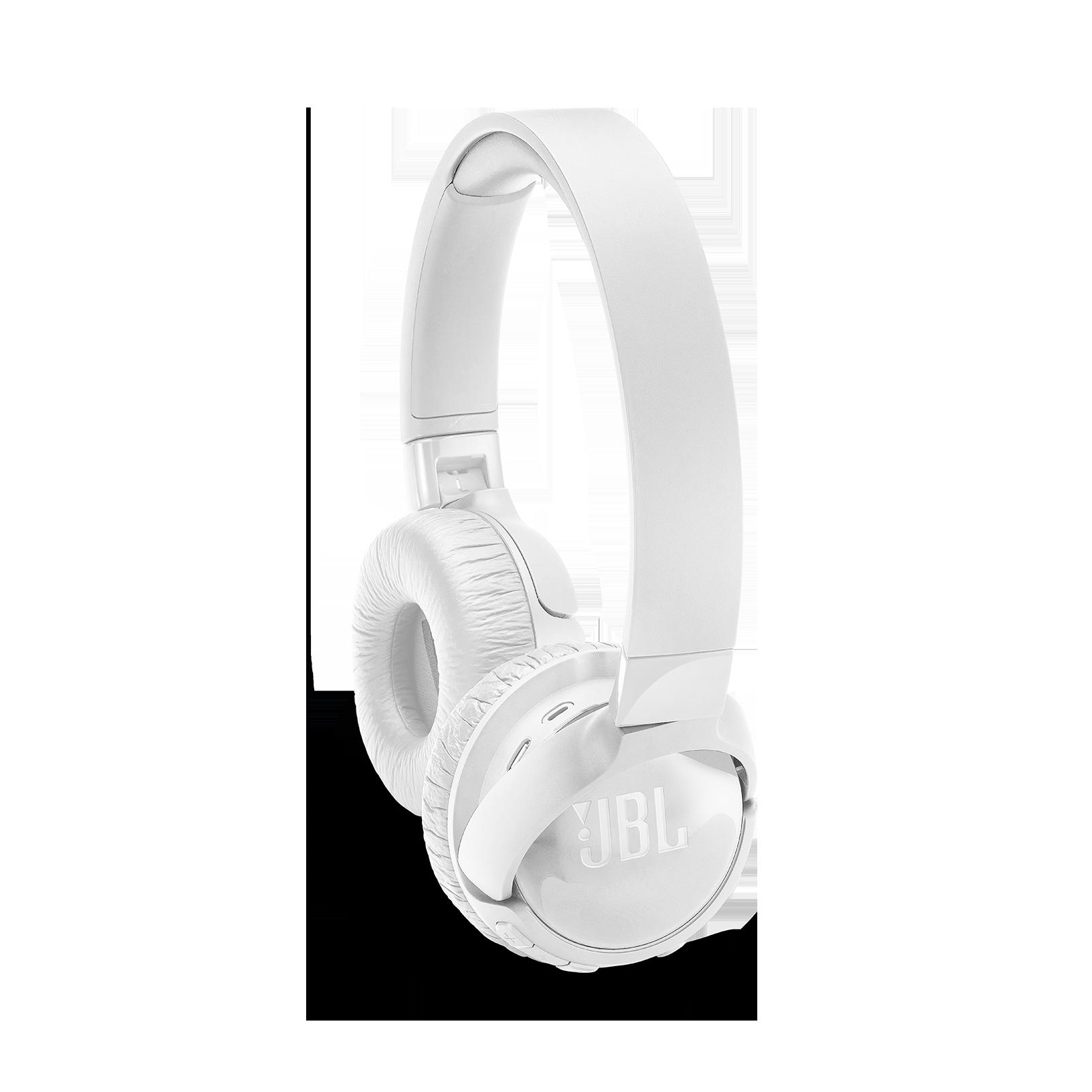 JBL TUNE 600BTNC - White - Wireless, on-ear, active noise-cancelling headphones. - Detailshot 1