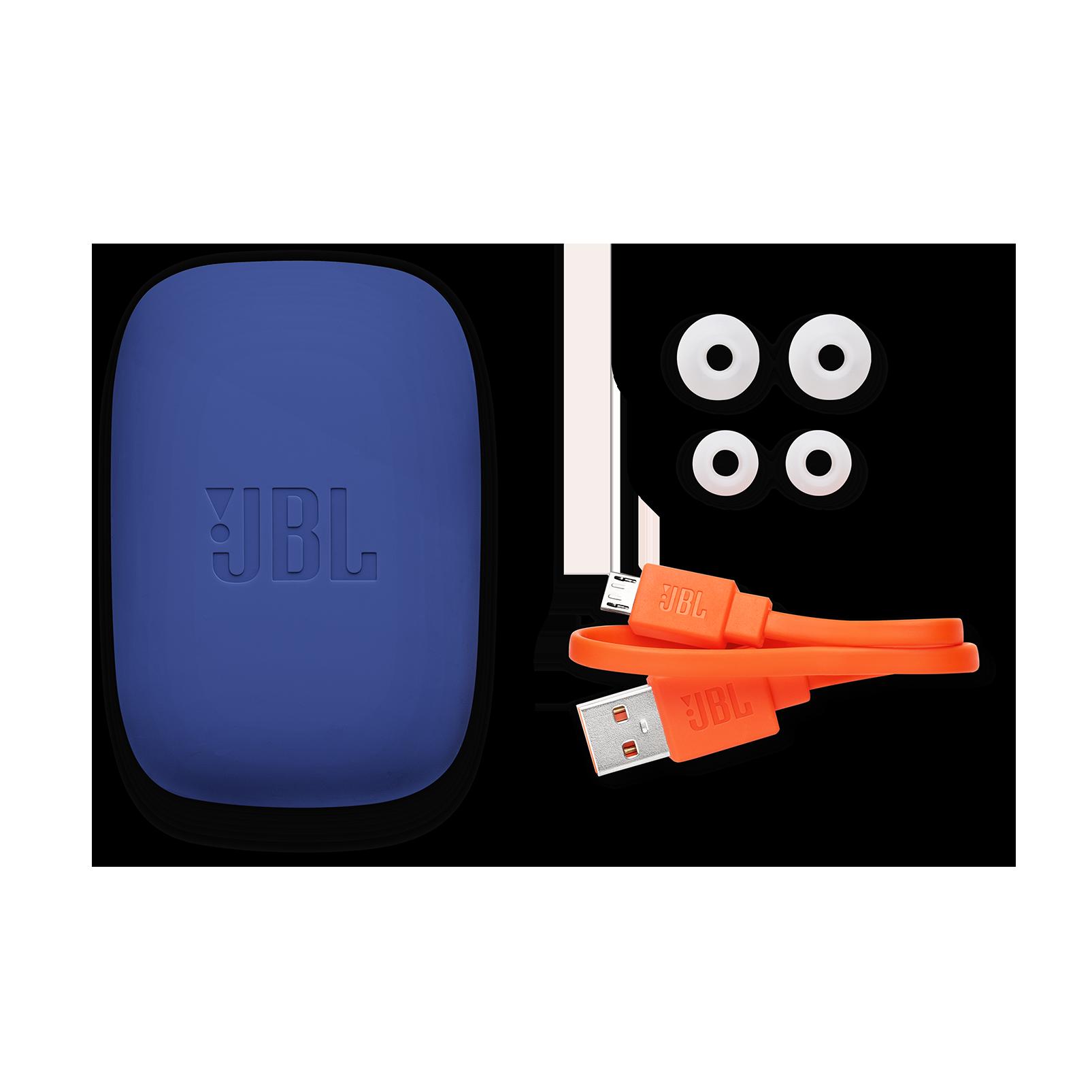 JBL Endurance JUMP - Blue - Waterproof Wireless Sport In-Ear Headphones - Detailshot 4